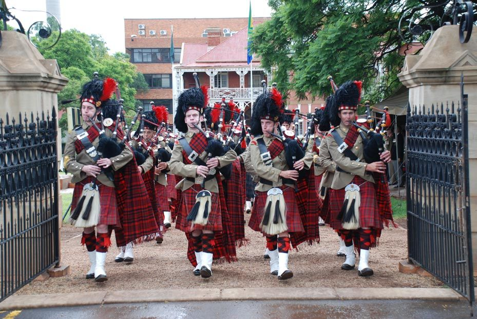 Scottish Bagpipes -Pipe-band