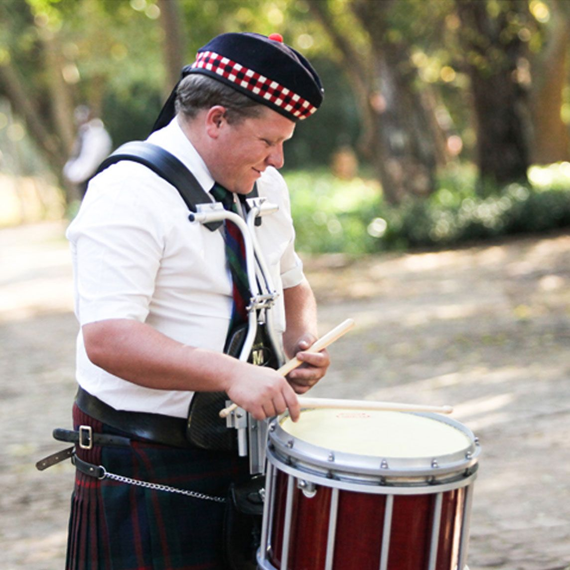 Bagpipe Player for Hire - drummer