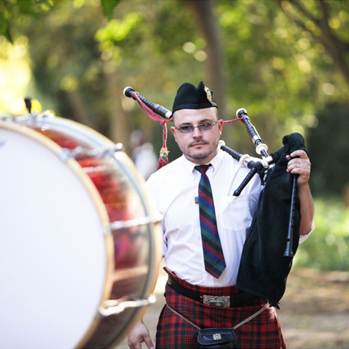 Bagpipe Players for Funerals -drummers